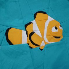 Paper pieced fish--so cute!