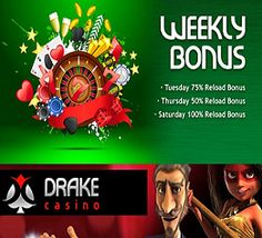 No Deposit Forum and Drake Casino have teamed up to bring you an EXCLUSIVE $10 No Deposit Bonus! To claim, click our pin and register a new player account. When you are ready to make your first deposit they will add a 100% Deposit Bonus to your balance and credit you with 50 Free Spins! US Players welcome!