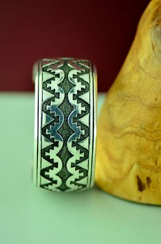 Navajo – Sterling Silver Mountain Symbol Bracelet by Tommy Singer
