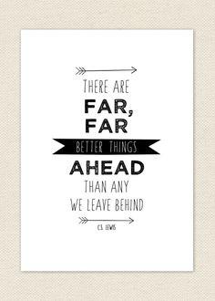Better // C.S. Lewis Quote // Religious Print // Typographic Art Print