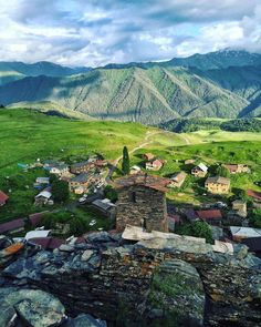 Tusheti - Republic of Georgia - Village in one of the Mountains.