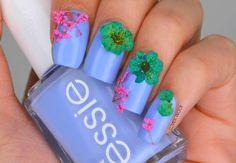 NAILS | Essie Bikini So Teeny Dried Flower Spring Nail Art