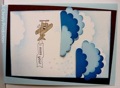 Stampin UP I Miss You Handmade Greeting Card - by A Christy Production on Madeit