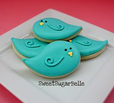 Spring, Birds Decorated Cookies