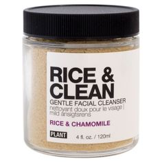 Plant Rice & Clean Facial Cleanser - Rice & Chamomile - 4 oz