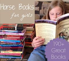 Good horse books for girls---> 190+ great horse books that will keep your horse-lover captivated!