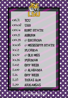 Get it for FREE on my Facebook page www.Facebook.com/StarrParnellDesigns   Printable Louisiana State University LSU Football by StarrParnell, $1.00