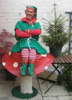 Christmas themed entertainer and juggling elf for hire in London and the UK.