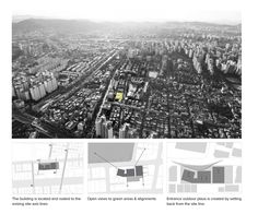 Cartoon Cultural Center. Competition design for a cultural and welfare building in the city of Bucheon, South Korea #architecture #site #plan #diagram Daniel Valle Architects
