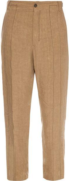 DAMIR DOMA Plectro linen trousers