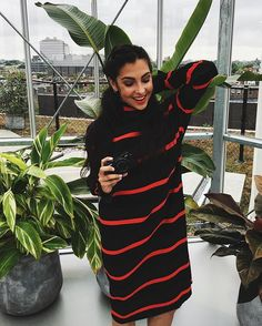 Red and Black Striped Polo Neck Sweater Dress Cozy Fashion, Fashion Beauty, Weekend Style, All About Fashion, Dress To Impress, Autumn Winter Fashion, Fashion Dresses, Style Inspiration, Trending Outfits
