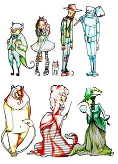 the wizard of Oz Dorothy Character designs - Google Search
