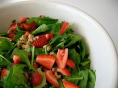Strawberry Spinach Salad with an easy Homemade Poppy Seed Dressing