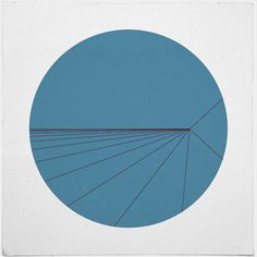 #471 Split second – A new minimal geometric composition  perspective depth within a flat field