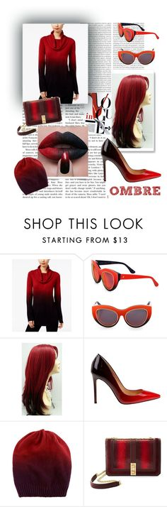 """""""Red Ombre"""" by hollybgdesigns ❤ liked on Polyvore featuring Oris, NY Collection, Dax Gabler, Daya, B Brian Atwood, red and ombre"""
