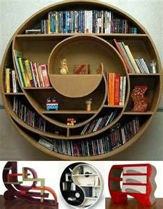 Serves as artwork and a bookshelf.