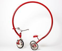 "Texas-based artist Sergio Garcia's 50""-tall tricycle"