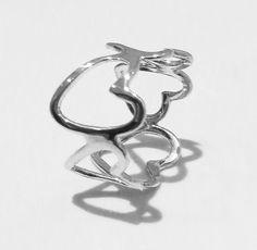 Sirrý Design - Heart Silver Ring Heart Ballo