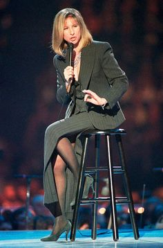 Barbra Streisand performs at the Inaugural Gala for President Bill Clinton, 1993.