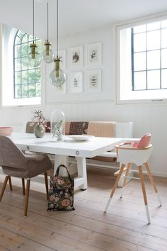 Large Dining Room -Fabulous Feminine Scandinvian Style In A Remodelled Church Decor, Furniture, House Design, Interior, Home, Dining Room Design, House Interior, Home Renovation, Large Dining Room