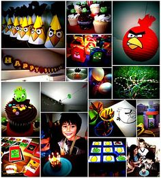 Angry Birds party - and just where were all these ideas when I was planning Bracen's party LAST year?!!!