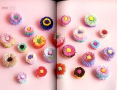 Items similar to Kawaii Colorful Pom pom Pattern - Japanese Craft Book - Pom Pom Balls, PomPom DIY Ornament, Necklace, Pom Pom Animal Easy Tutorial - on Etsy Craft Stick Crafts, Easy Crafts, Diy And Crafts, Pom Pom Animals, Pom Pom Crafts, Crafts For Seniors, Fabric Bins, Do It Yourself Crafts, Crafts To Make And Sell