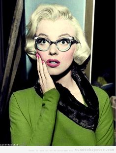 Marilyn Monroe gafas vintage...me encantan!