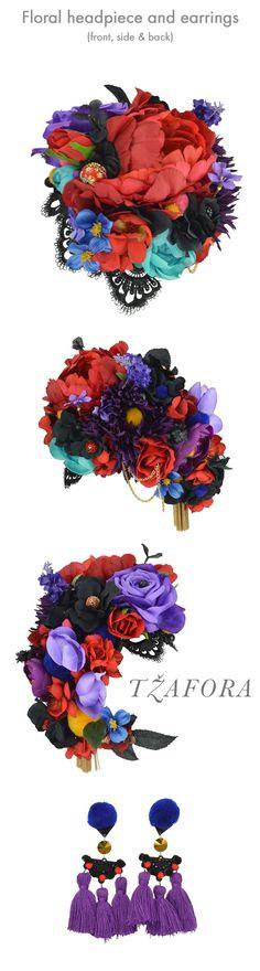 Custom floral headpiece creation with earrings - Ballroom dance jewelry, ballroom dance dancesport accessories. www.tzafora.com Copyright ©️️️️️️️️️️ 2018 Tzafora. Floral Headpiece, Ballroom Dance, Costume Jewelry, Rooster, Jewelry Design, Costumes, Luxury, Earrings, Animals
