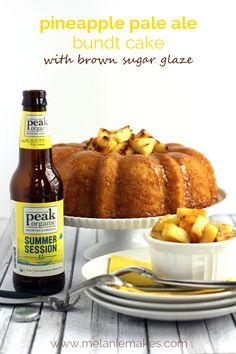 Pineapple Pale Ale Bundt Cake with Brown Sugar Glaze | Melanie Makes melaniemakes.com