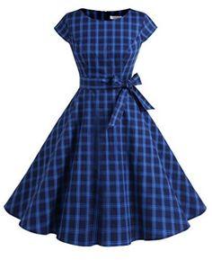 Dressystar Vintage Polka Dot and Solid Color Prom Dresses Cap-Sleeve Vintage 1950s Dresses, Retro Dress, Vintage Outfits, Vintage Fashion, 1950s Prom Dress, Frock Fashion, Fashion Outfits, 1950s Fashion Dresses, Pretty Dresses