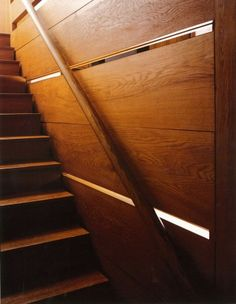 Image 11 of 14 from gallery of AD Classics: Esherick House / Louis Kahn. Photograph by Todd Eberle Installation Architecture, Residential Architecture, Architecture Details, Interior Architecture, Classical Architecture, Louis Kahn, Esherick House, Stair Handrail, Railings