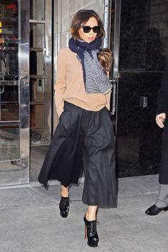 Victoria Beckham in culottes.