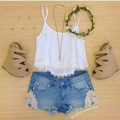 Amazing Cute Summer Outfits Ideas For Teenage Girl Teenage Girl Outfits, Teenager Outfits, Outfits For Teens, Casual Outfits, School Outfits, Casual Dresses, Cute Fashion, Look Fashion, Urban Fashion
