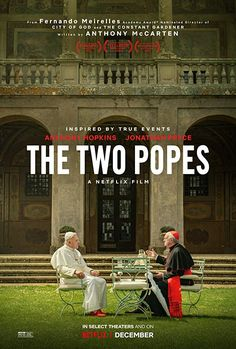 The Two Popes is a 2019 biographical drama film directed by Fernando Meirelles and written by Anthony McCarten, based on McCarten's 2017 play The Pope. It stars Anthony Hopkins and Jonathan Pryce. Jonathan Pryce, The Constant Gardener, City Of God, Beau Film, Streaming Vf, Streaming Movies, Soundtrack, Pope Francis, Storyboard