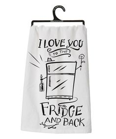 Look what I found on #zulily! White & Black 'To the Fridge and Back' Dish Towel #zulilyfinds