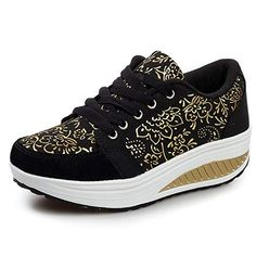 Yuhuawyh Women Sneakers Teen Girls Walking Shoes Anti Slip Eur 42 Black