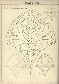 Motifs Art Nouveau, Motif Art Deco, Art Nouveau Pattern, Art Nouveau Design, Pattern Art, Art Nouveau Illustration, Ornament Drawing, Jugendstil Design, Motifs Animal