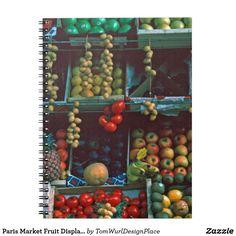 Paris Market Fruit Display  Notebook