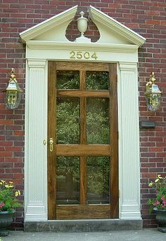 Storm Glass Front Door-so much prettier than the usual.