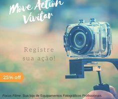 Promoção de Carnaval!  Movie Action Vivitar - 25% OFF Capture e Compartilhe fotos e vídeos de ação.