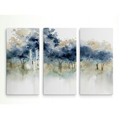 'Waters Edge I' Acrylic Painting Print Multi-Piece Image on Wrapped Canv… – Creative Canvas Three Piece Wall Art, Canvas Wall Art, Canvas Prints, 3 Piece Canvas Art, Acrylic Canvas, Wall Art Sets, Painting Inspiration, Wood Art, Painting Prints