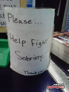 is what we use at my work! Which is ironic cause I work at a liquor store - but we get great tips from it! Funny Tip Jars, Bar Quotes, Show Me The Money, Liquor Store, Work Memes, Fun Shots, Life Advice, Haha Funny, Bartender