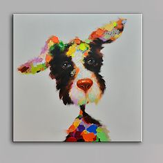 Single Modern Abstract Pure Hand Draw Frameless Decorative Painting Dog 4666528 2017 – $57.59