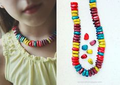 DIY: Corn Bead Necklace ~ Great Thanksgiving or Fall Craft for Kids