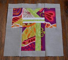 Kimono Paper Pieced by Ms Midge, via Flickr