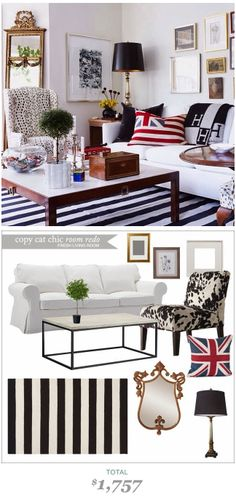 #CopyCatChicRoomRedo by #LindseyBoyer A fresh living room by Domaine Home for only $1757