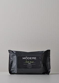 モデーア フレッシュシート メン   サッとふくだけで、シャワーをあびた後のような爽快感と、化粧水のようなうるおいを。【¥5,400以上のお買い物で10%OFF 、¥10,800以上で15%OFFの特典をプレゼント】