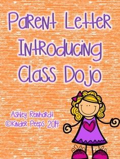 Parent Letter Introducing Class Dojo Classroom Management System