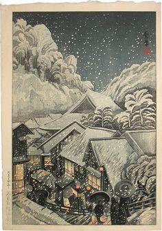 Kazuma Oda--1881-1956--Arifuku Hot Spring, Iwami