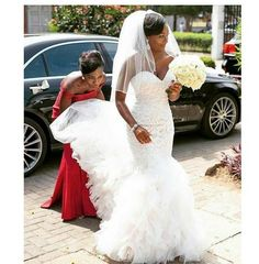 Arrival Plus Size Mermaid Wedding Dresses Sheer Neck Long Sleeves Autumn Wedding Gowns African Dubai Arabic Wedding Bridal Gowns - Sheer Wedding Dress, Sweetheart Wedding Dress, Lace Mermaid Wedding Dress, Black Wedding Dresses, Mermaid Sweetheart, Bridal Gowns, Wedding Gowns, Lace Wedding, Wedding Bouquet